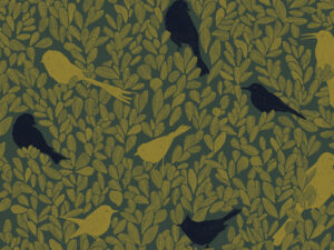 Papier Peint Ressource, Collection Forestine, Motif Paradis Caché, Variation PC03