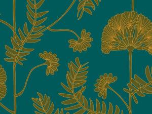 Papier Peint Ressource, Collection Faune & Flore, Motif Anna, Variation AA02