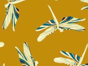Papier Peint Ressource, Collection Faune & Flore, Motif Demoiselles, Variation D01