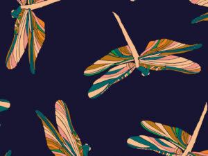 Papier Peint Ressource, Collection Faune & Flore, Motif Demoiselles, Variation D03