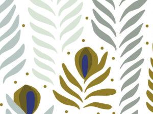 Papier Peint Ressource, Collection Faune & Flore, Motif Panache, Variation PAG04