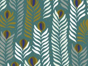 Papier Peint Ressource, Collection Faune & Flore, Motif Panache, Variation PAP03