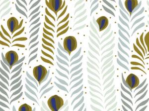 Papier Peint Ressource, Collection Faune & Flore, Motif Panache, Variation PAP04